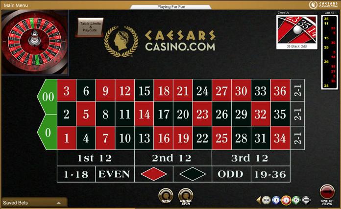 online casino table games caesars casino online