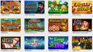 CaesarsCasino Online Slot Titles