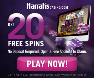 Get 20 FREE Spins & 100% Welcome Bonus at HarrahsCasino.com