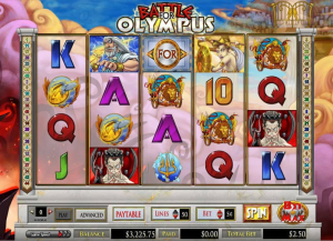 PartyPoker Casino Battle for Olympus Slot