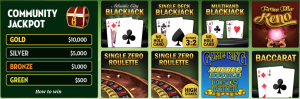 TropicanaCasino Online Table Games Menu