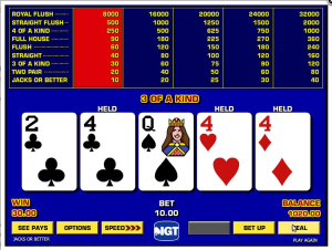TropicanaCasino Game King Jacks or Better Video Poker